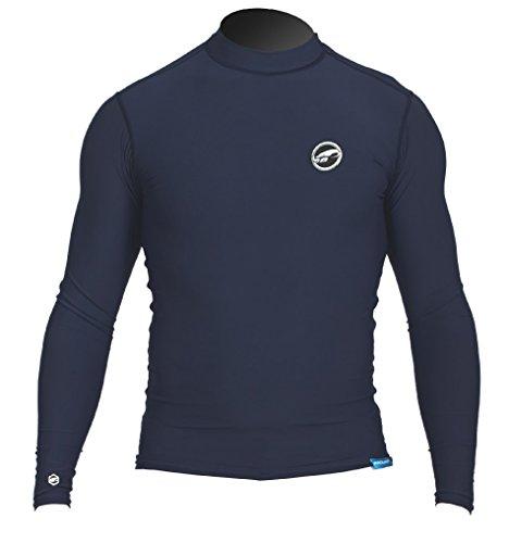 Prolimit Hombre Manga Larga. UV badeuv de Camiseta, Hombre, PLRASHLI-DB/M, Azul Oscuro, Medium