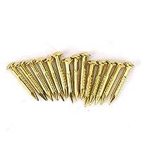 100個の真ちゅう釘、4つのスタイルの強力な固定機能真ちゅう釘、家庭用の高品質(Length 10mm)