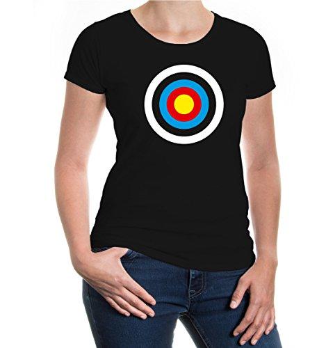 Girlie T-Shirt Zielscheibe-S-Black-z-Direct