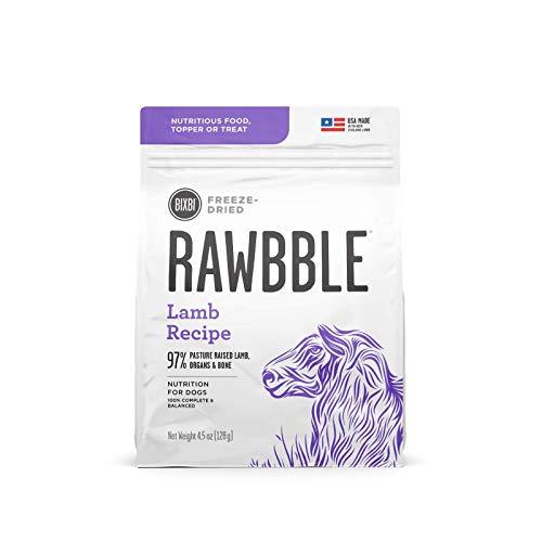BIXBI Rawbble Freeze Dried Dog Food, Lamb Recipe, 4.5 Ounce