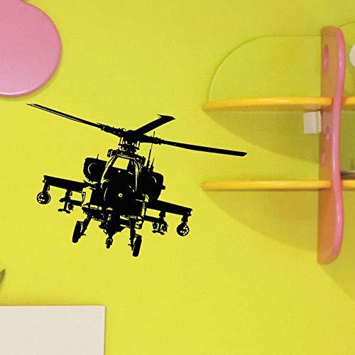 Helicóptero Ejército Ataque militar Etiqueta de la pared Vinilo Decoración familiar Habitación para niños Habitación para niños Dormitorio para adolescentes Calcomanía extraíble Mural 82x57CM
