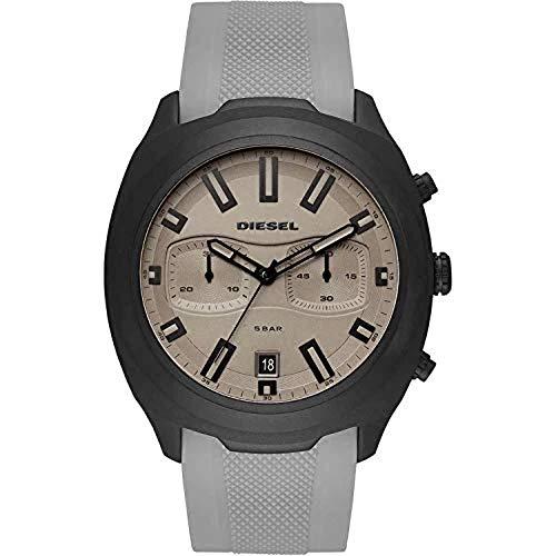 Diesel Herren Chronograph Quarz Uhr mit Silikon Armband DZ4498