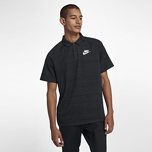 Nike Herren Sportswear Advance 15 Poloshirt, Black/Heather/White, XL
