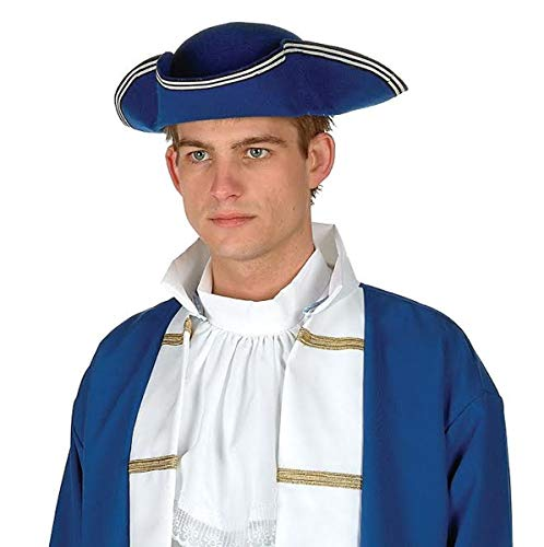 RG Costumes Colonial Hat-Felt (Blue;One Size)