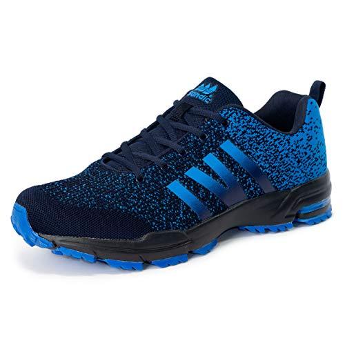 LEKANN 205 - Zapatillas deportivas para hombre (talla 41-50), color Azul, talla 49 EU