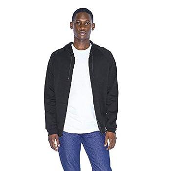 American Apparel Men s California Fleece Long Sleeve Zip Hoodie Black Medium