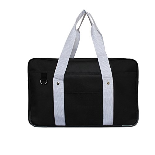 MyLifeUNIT Japanese School Bag, Horizontal Anime High School Bag for Cosplay (Black)