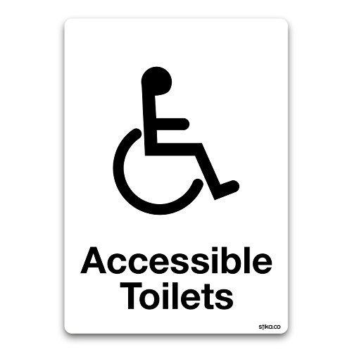 accessible Panneau A6 105 x 148 mm Toilettes handicapés Washroom Porte Vinyle Adhésif autocollant