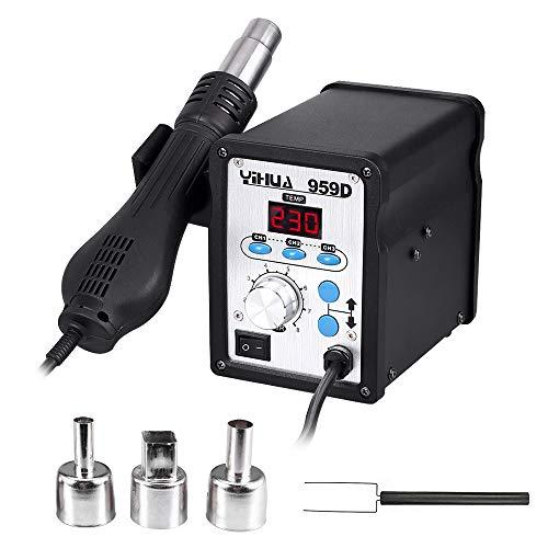 Lötstation 959D Heißluftpistole LED Digital Rework Station 100 °C ~ 500 °C für SMD
