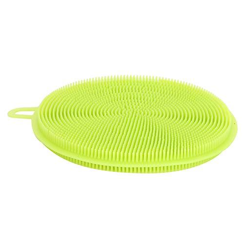 SALALIS Cepillo para Utensilios de Cocina, Cabezal de Cepillo denso 3 Piezas Cepillo de Silicona Material de Silicona de Calidad alimentaria para Limpiador para Restaurante