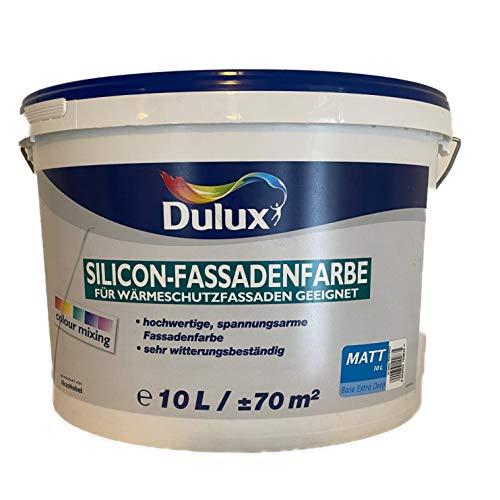 Dulux Silicon-Fassendenfarbe Für Wärmschutzfassaden Weiß 10 L