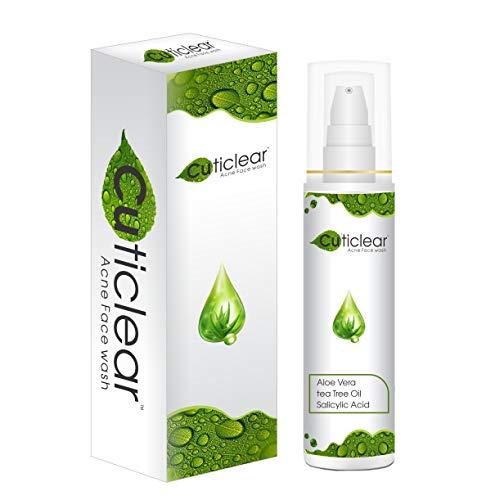 Cutilift Acne Clear Face wash of Aloe Vera Tea Tree oil & Salicylic Acid BHA 2% for oily skin