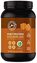 Stellar Labs Pure Cold-Pressed Salted Caramel Whey Protein Powder, Gluten-Free, High Protein, All Natural with Stevia, Low...