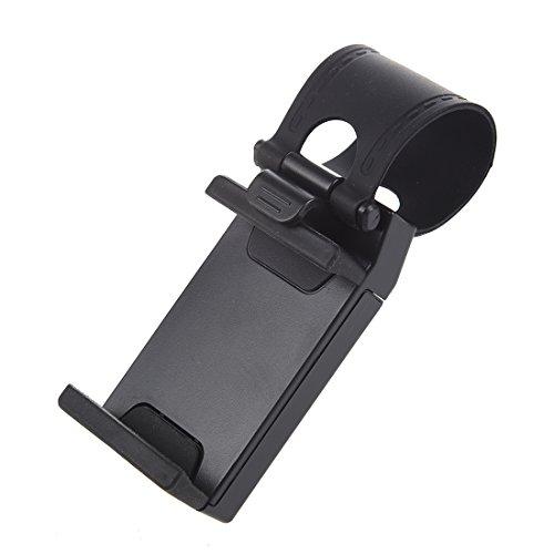 Soporte para coche - SODIAL(R) Coche Volante Monte Soporte Sostenedor por iPhone 4S 5S Negro