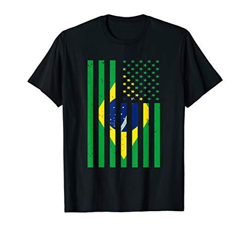Brazil Shirt Brasil Soccer USA America Flag Jersey Men Women T-Shirt