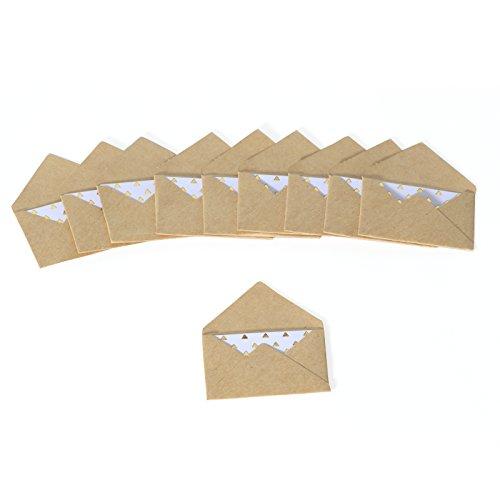 Rico Design Mini Briefumschläge - Karten und Umschläge (Kraftpapier)