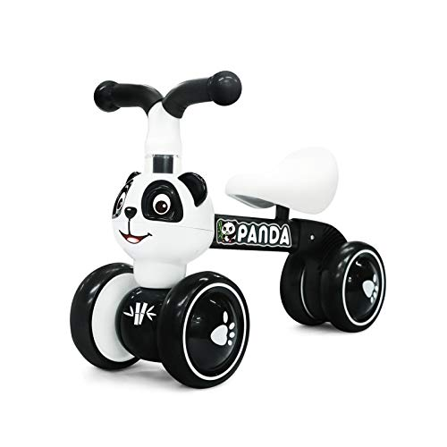 YGJT Panda Baby Balance Bike Ages 1-3 Year Old, Indoor Non-Pedal Walker...