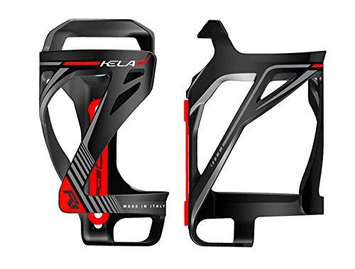 ONOGAL PORTABIDON Porta Bidon RaceOne Kela Ausgang seitlich schwarz rot Fahrrad 6331NRJ