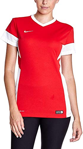 Nike - Maillot de sport - Manche courte - Femme - Multicolore (University Red/White) - (Taille: L)