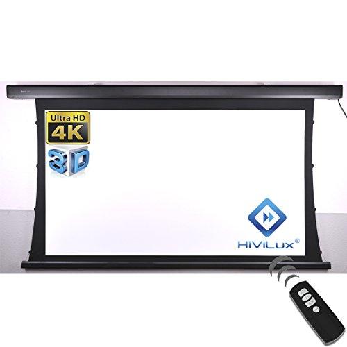 HiViLux Tension Motor Leinwand Dualspann/professionell Kinofolie: HiViWhite Cinema 1,0 / 8K/4K UHD für 3D / 2D / TXN Serie (16:9 Bild:265x149cm 120