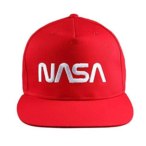 Nasa Herren Space Station Cap Baseballkappe, Klassisches Rot, Einheitsgröße