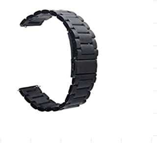 For Samsung Gear S3 Classic / S3 Frontier - Stainless Steel Smart Watch Band Strap - Charcoal Black