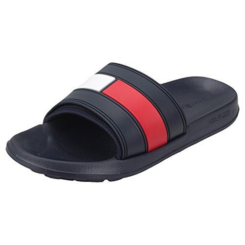Tommy Hilfiger Flag Pool Slide, Zapatos de Playa y Piscina Hombre, Azul (RWB 020), 43/44 EU
