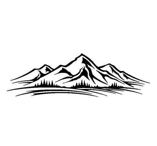 Etiqueta de la pegatina para el parachoques del coche En la montaña...