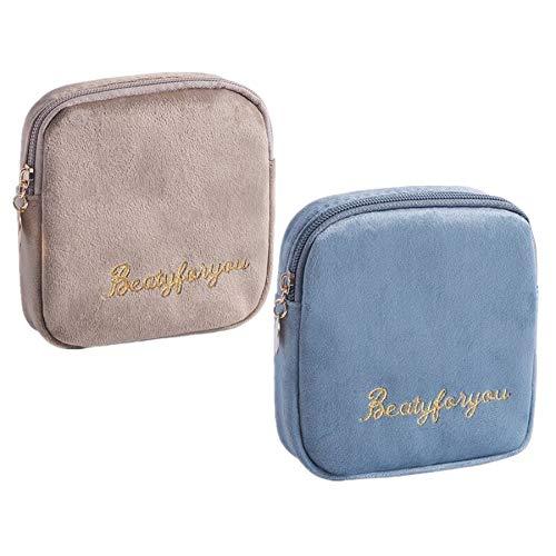 Fanny 2 Stücke Damenbinde Tasche Tampons Sammeln Taschen,Stillkissen, Slipeinlagen, Damenbinden und Makeup Pads (Mehrfarbig B)