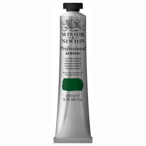 Winsor & Newton 2337311 Professional Acrylfarbe in 200ml Tube, hohe Deckkraft, Künstlerqualität, Hooker's Grün