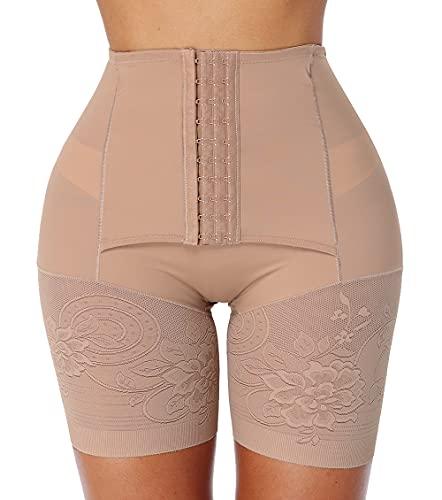 MISS MOLY Bragas Fajas Reductoras de Cintura Alta Mujer Braguita Moldeadora Vientre Plano Invisible Shapewear Levanta Glúteos Ropa Interior Corsé Pantalón Lencería Elástico