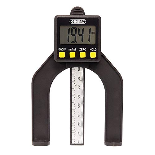 General Tools 150 Digital Height Gauge, Self-Standing, Magnetic, Inches/Millimeters & Detachable Plunger