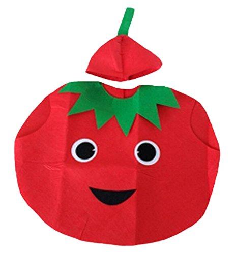Petitebelle Verduras de Halloween de frutas de Navidad del partido del traje unisex Ropa de vestir Un tamaño Tomate