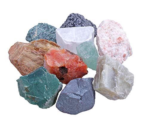 Wassersteine Premium Mischung 10 Stück beliebte Steine Edelsteinwasser 100% Natursteine 250 gr (Variante 2)