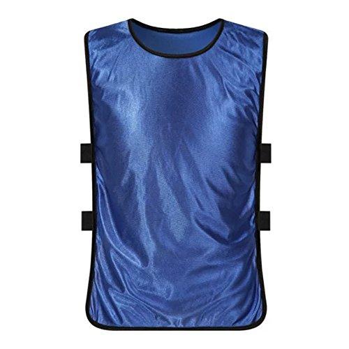 LouisaYork Kinder Fußball-Trainingsleibchen, 12 Stück, ärmellos, für Fußball, Basketball, Volleyball, Rugby, Hockey Cricket, mehrfarbig