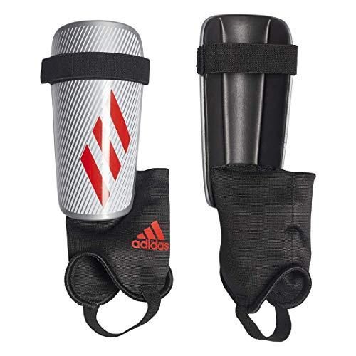 adidas X CLUB Soccer Shin Guards , Silver Metallic/Hi-Res Red S18/Black  , M Adidas Red Shin Guard