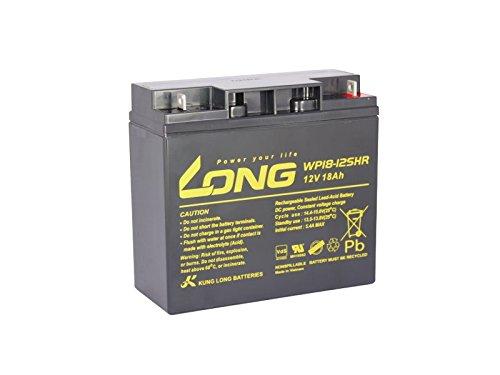 Blei Akku Batterie Kung Long 12V 18Ah 12Volt 18Ah wie 17Ah, 19Ah, 20Ah, 22Ah VdS geprüft