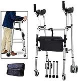 Marcheur roulant à posture verticale avec coussin de soutien pour accoudoirs, déambulateur...
