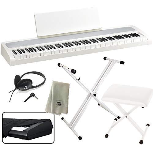 KORG 電子ピアノ B2 WH 88鍵 ホワイト X型スタンド+ピアノ椅子+純正ヘッドホン+ダストカバー セット