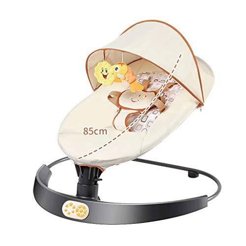 Lit de bébé à Bascule Berceau électrique Le Dispositif Magique de bébé de Pacify Sommeil Nouveau-né (Color : Beige)