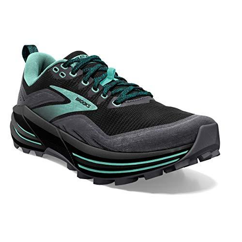 Brooks Cascadia 16, Zapatillas para Correr Mujer, Black Ebony YUCCA, 38.5 EU