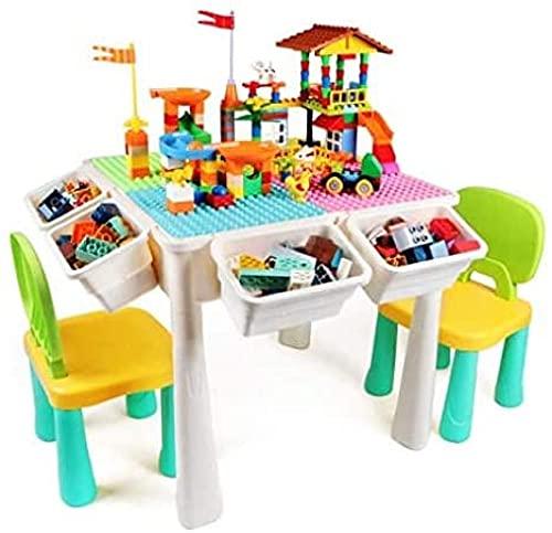 Kinderaktivität Höhenverstellbare Tabelle und 2 Stuhlsatz, Wassertisch Sandtisch, für Kleinkinder Tätigkeit Nicht toxischer und langlebiges Plastikspielzeug Lagerung