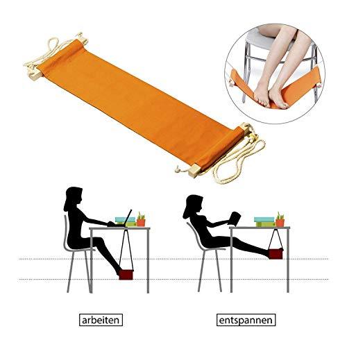 Voet hangmat, Strap Verstelbare office voet Vliegtuig Bureau Voet Hangmat voor Reizen voor binnenklachten, kampeerreis ontspannen jezelf