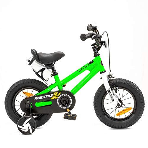 NB Parts Bicicletta per bambine e bambini, a partire dai 3 anni, da 12 / 16 pollici, Bambini, verde, 12