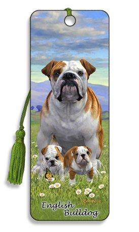 Artgame - English Bulldog - 3D Dog Breed Bookmark
