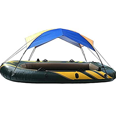 Reatzhen Inflatable Boat Fishing Sunshade Rain Canopy Kayak Kit Sailboat Canopy Top Cover Folding Sunshade Boat Tent Kayak Accessories for 3-Person 29513743CM Boats
