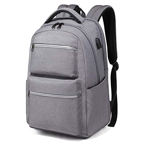 Modische Schultasche robuste Laptoptasche Laptop-Tasche Männer USB-Aufladung Wasserdichter Rucksack Anti-Diebstahl Haltb