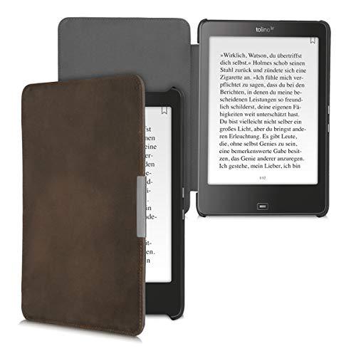 kalibri Tolino Epos Hülle - Leder eBook eReader Schutzhülle Cover Case für Tolino Epos