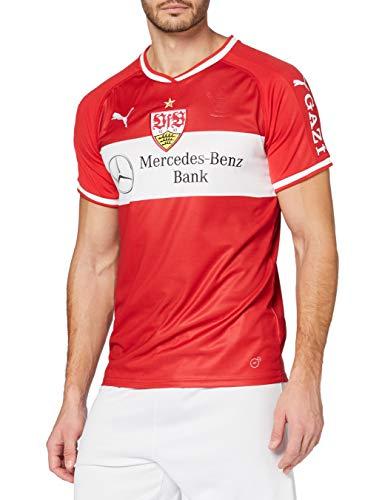 PUMA Herren Trikot VfB Stuttgart Away Replica Shirt w. Sponsor, Ribbon Red-Puma White, M, 924547