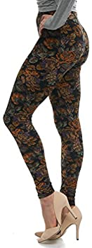 Lush Moda Extra Soft Leggings with Designs- Variety of Prints - 38F One Size fits Most  XS - XL  Antique Rose